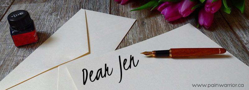 Dear Jen Perseverance Pep Talk Needed