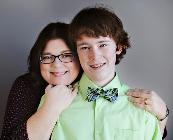 Jen Watson and son